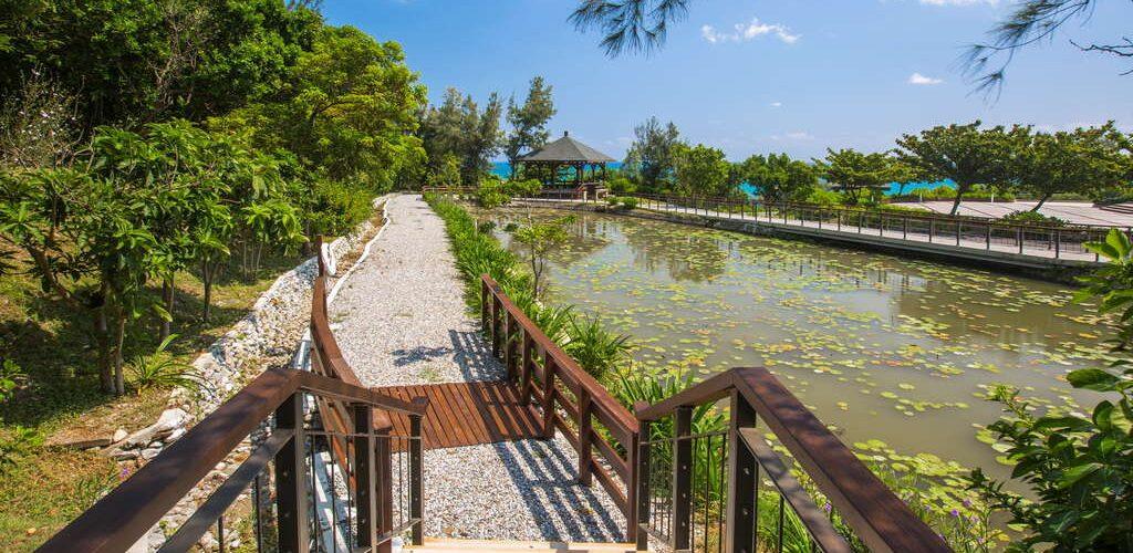 花蓮遊客中心蓮花池木棧道與涼亭